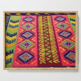 Colorful Guatemalan Alfombra Serving Tray
