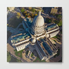 Wisconsin State Capitol Building Metal Print