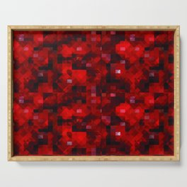 Abstract Red Serving Tray