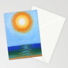 Haitian Sunrise coastal landscape painting by Joseph Stella Stationery Cards