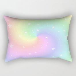 Rainbow Swirls and Stars Rectangular Pillow
