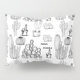Cactus Friends - daytime Pillow Sham