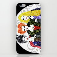 hocus pocus iPhone & iPod Skins featuring Hocus Pocus by The Curly Whirl Girly.