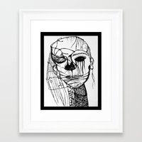 psycho Framed Art Prints featuring ~psycho by alexisdarkness