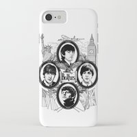 british flag iPhone & iPod Cases featuring British Invasion by V-GRAFIX