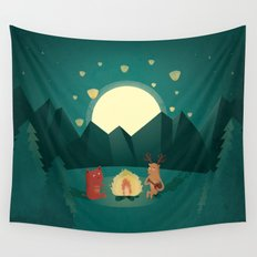 Camp Fires Wall Tapestry