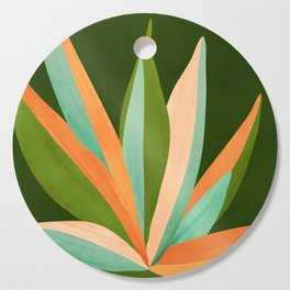 Colorful Agave / Painted Cactus Illustration Cutting Board