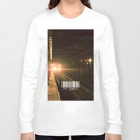 subway Long Sleeve T-shirts featuring NYC Subway by Tanner Dallas