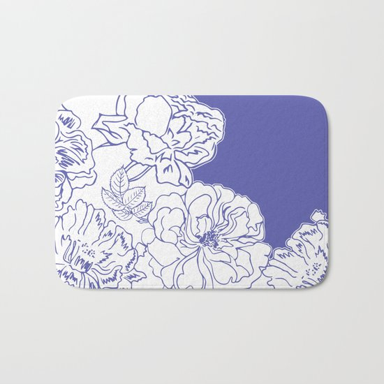 FLORAL IN BLUE Bath Mat