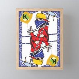 The King Framed Mini Art Print
