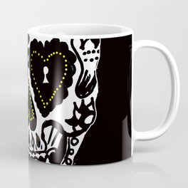 Sugar Skull - Black and White Coffee Mug