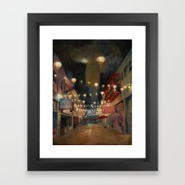 Lights on Chung King Framed Art Print