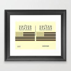 The United States Travel Journal Poster Framed Art Print
