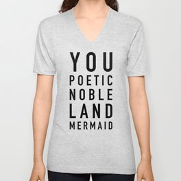 Poetic Noble Land Mermaid Unisex V-Neck