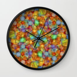Bubbly Colours Pattern Wall Clock