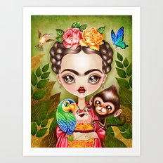 Frida Querida Art Print