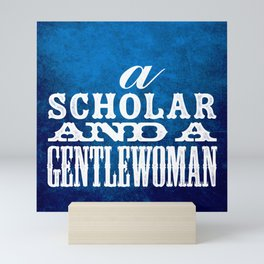 A Scholar and a Gentlewoman Mini Art Print
