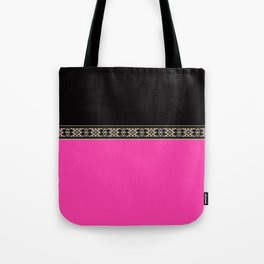 Pink neon and black Tote Bag