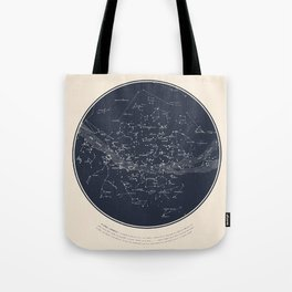 Carte Celeste Tote Bag