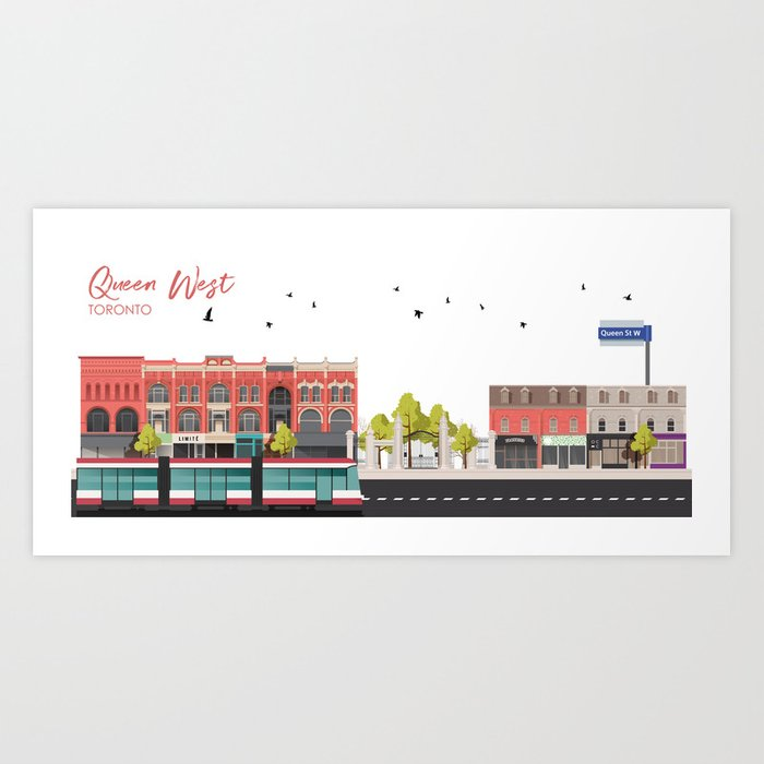 Queen West - Toronto Neighbourhood Art Print