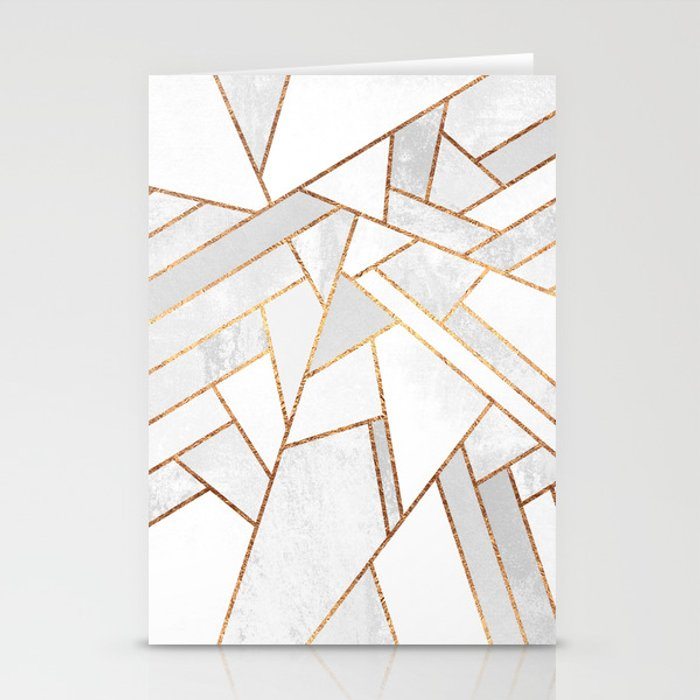 White Night Stationery Cards