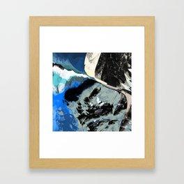 Restless Beach Framed Art Print