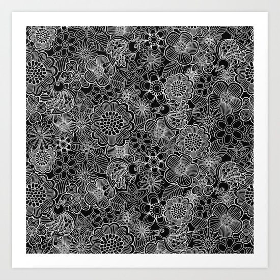 """""""Welcome birds..""""in black and white. Art Print"""
