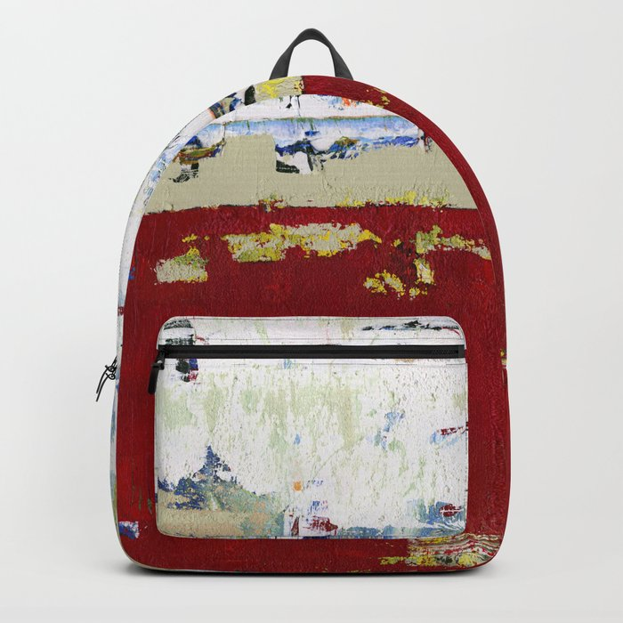 Ragged Glory Red Abstract Landscape Backpack
