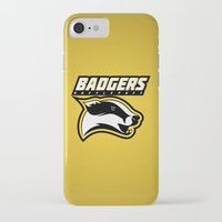 hufflepuff iPhone & iPod Cases featuring Badgers Hufflepuff  by Fresco Umbiatore