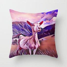 One Proud Goat Throw Pillow