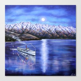 Earnslaw cruise in Queenstown by Ira Mitchell-Kirk Canvas Print