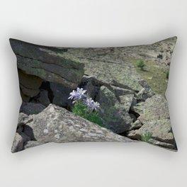 Columbines on a Rock Slide Rectangular Pillow
