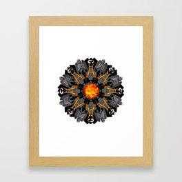 flame grave mandala Framed Art Print