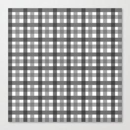 Grey Picnic Cloth Pattern Canvas Print