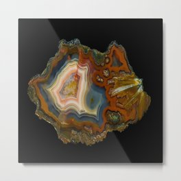 Condor Agate Sagenite Metal Print