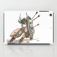 bouletcorp iPad Cases featuring Écureuil Barbare by Bouletcorp