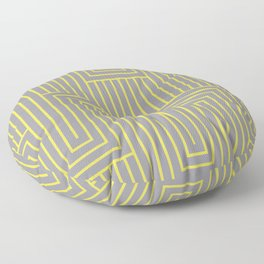 Art Deco Pattern 2 V1 Pantone 2021 Color Of The Year Illuminating and Ultimate Gray Floor Pillow