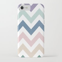 MUTED CHEVRON {COOL TONES} iPhone Case
