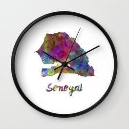 Senegal in watercolor Wall Clock