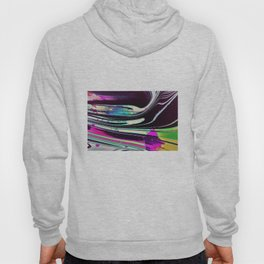Lines and spots of color abstract digital painting Hoody