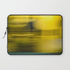 Yellow Lights Speed Effect Laptop Sleeve