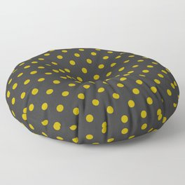 Black and Gold Polka Dots Floor Pillow