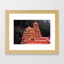 Indian Temple In Sri Lanka Framed Art Print