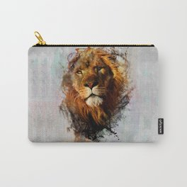 Water Color Splash Lion Carry-All Pouch