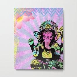 Ganesha Rainbow Metal Print