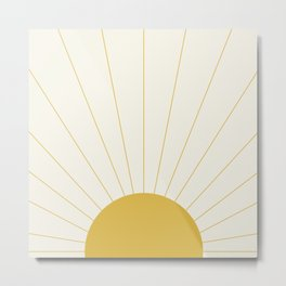 Sunrise / Sunset Minimalism Metal Print