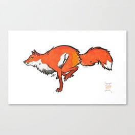 Run, Fox Warrior, Run Canvas Print