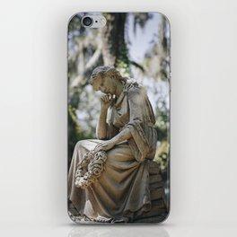 Bonaventure Cemetery - Statue of Eliza Wilhelmina Theus iPhone Skin