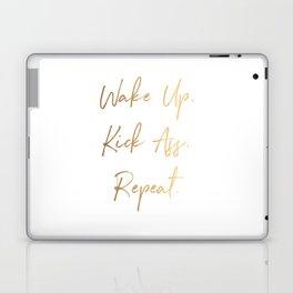 Wake up. Kick Ass. Repeat Laptop & iPad Skin