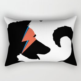 Bow (Wow) Down to Bowie (Black Background) Rectangular Pillow